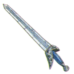 Official art of Mythril Sword from <i>Final Fantasy III</i>.