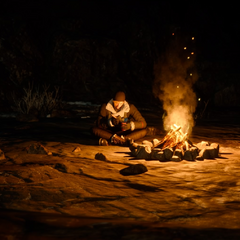 Camping in <i>Episode Prompto</i>.
