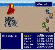 FFIV SNES Red Death Bug