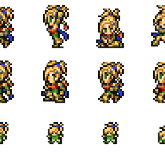 Set of Rikku's sprites.