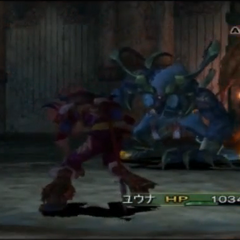 Yuna under Berserk in <i><a href=