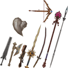 Vaan's EX Mode weapons.