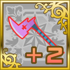 Poison Axe +2 in <i>Final Fantasy Airborne Brigade</i> (SR).