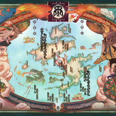 Arte-final de Zaon à direita do mapa de Spira.
