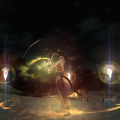 A miqo'te summoning in <i><a href=