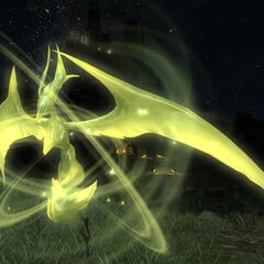 Garuda-Egi summonable by the player in <i>Final Fantasy XIV</i>.