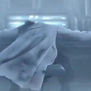 Тело Ходжо во вступлении к <i>Dirge of Cerberus -Final Fantasy VII-</i>.