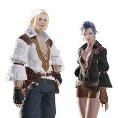 Male and female midlander hyur.