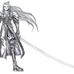 Concept art of Sephiroth by Tetsuya Nomura.
