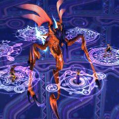 Spectral Keeper in battle.