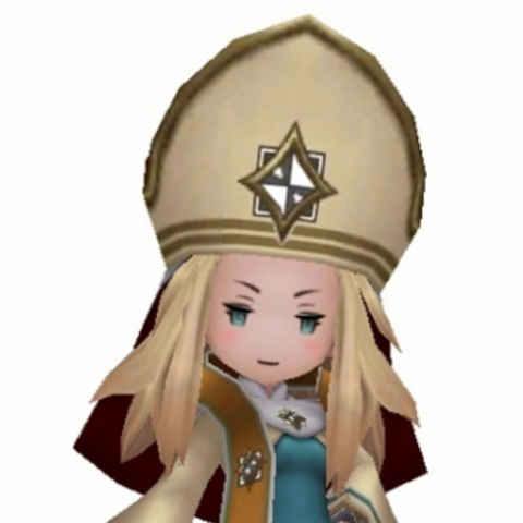 Edea as a Bishop.