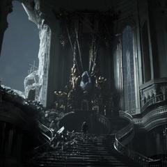Кристалл в тронном зале Цитадели.