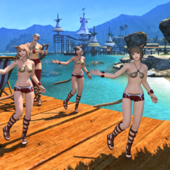 Dancing Miqo'tes in Costa del Sol.