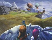 Ice Cavern Exit FFIX Art