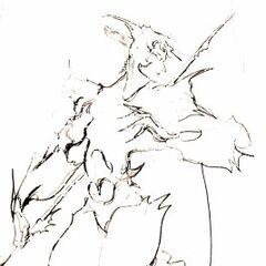 Набросок Каина, выполненный Ёситакой Амано.