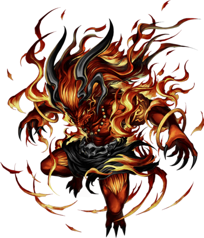 File:FFBE Ifrit Artwork.png