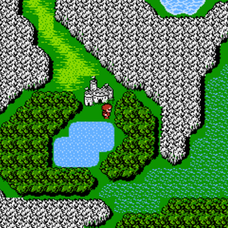 Castle Deist on the World Map (NES).