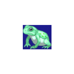 Toad portrait for young Rydia in <i>Final Fantasy IV</i> (PSP).