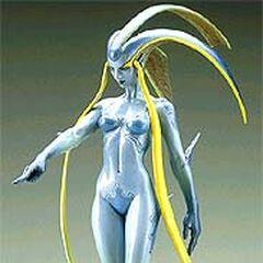 Раскрашенная фигурка Шивы основанная на её внешнем виде в <i>Final Fantasy VIII</i>.