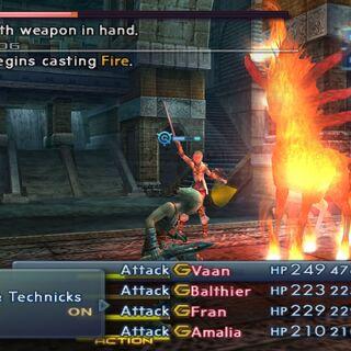 Firemane begins casting Fire.