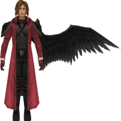 Winged model in <i>Crisis Core -Final Fantasy VII-</i>.