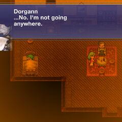 Dorgann, Stella, e Bartz em sua casa na cidade de <a class=