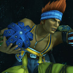 Wakka is ready for battle.