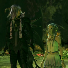 Caius with Yeul in the Sunleth Waterscape -300 AF-.
