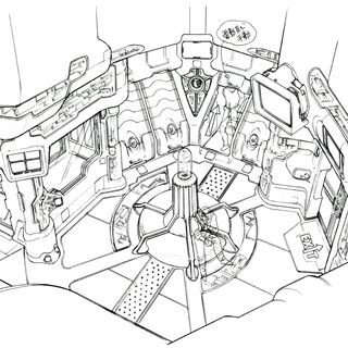 Concept art of a room in the base.