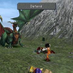 Garnet defending.