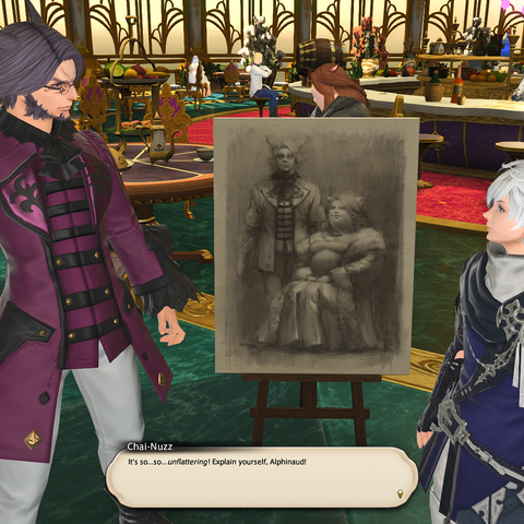 A sketch of the couple drawn by Alphinaud.