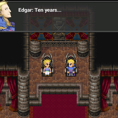 Sabin and Edgar on the throne (iOS/Android/PC).