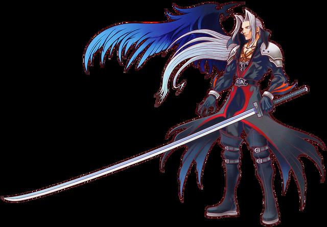 File:Sephiroth - Kingdom Hearts Artwork .png