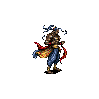 Vargas's battle sprite (iOS).