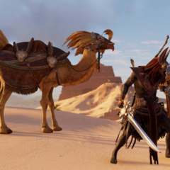 Crossover event spoils in <i>Assassin's Creed Origins</i>.