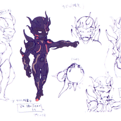 Akira Oguro concept artwork of Dark Knight Cecil (DS).