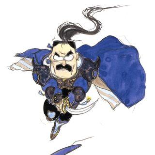 Рисунок Кайена в стиле чиби работы Ёситаки Амано.