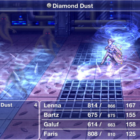 Shiva using Diamond Dust.