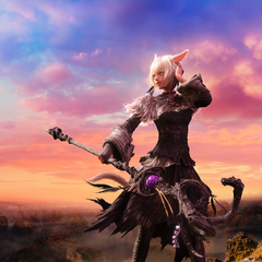 Promotional poster featuring Y'shtola.