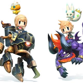 Reynn riding a Magitek Armor.