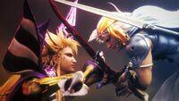 Dissidia NT Emperor VS Firion