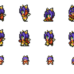 Set of Eiko's sprites.