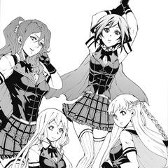 Sayo with Miwa, Emina, and Aoi.