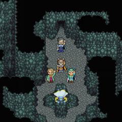 Kelger e os Guerreiros do Amanhecer selando Exdeath.
