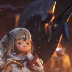 A Lalafell White Mage na cena