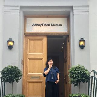 Yoko Shimomura at Abbey Road Studios.
