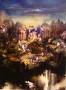 CCFFVII Gongaga Artwork
