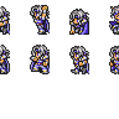 Set of Paladin Cecil's Wardrobe Record sprites.