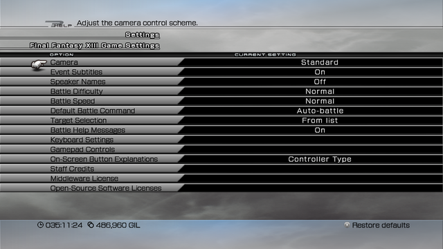File:FFXIII PC Settings Menu.png