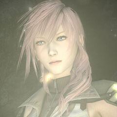 Внешний вид Лайтнинг в <i>Final Fantasy XIV</i>.